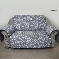 sofa coat grey printed