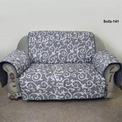 sofa coat grey printed