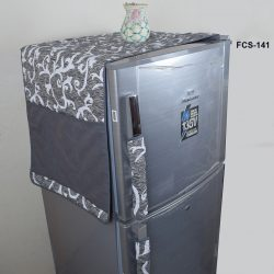 Fridge Cover grey printed