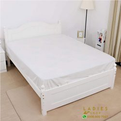 jersey fitted bed white