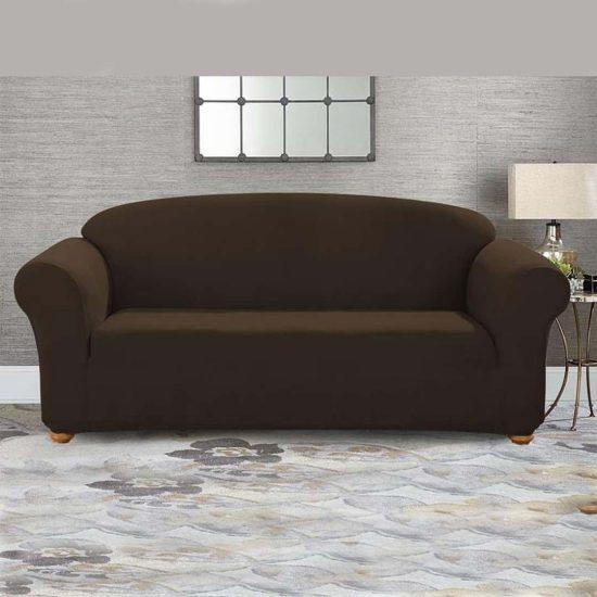 jersy sofa cover chocolate