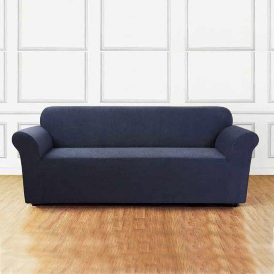 jersey sofa cover light blue