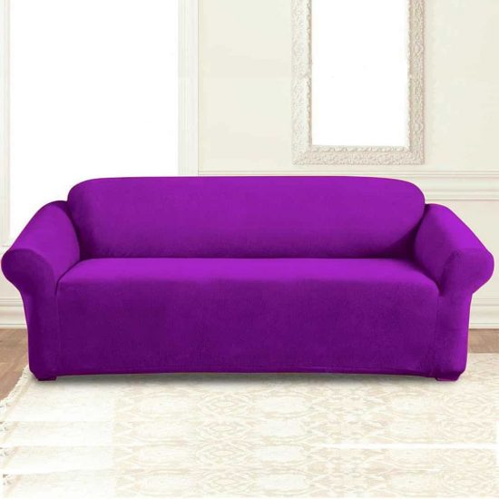 jersey sofa cover purple