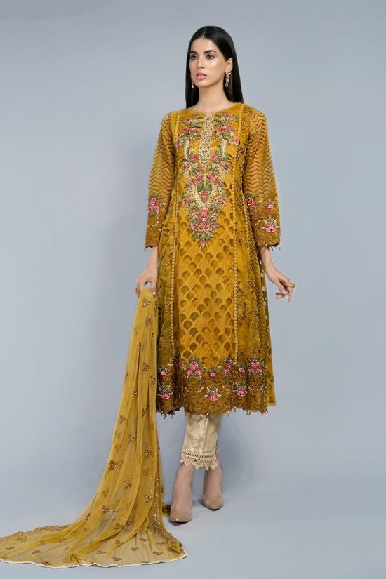 mariab embdoided with chiffon dupata 2020 pakistani dresses online boutique
