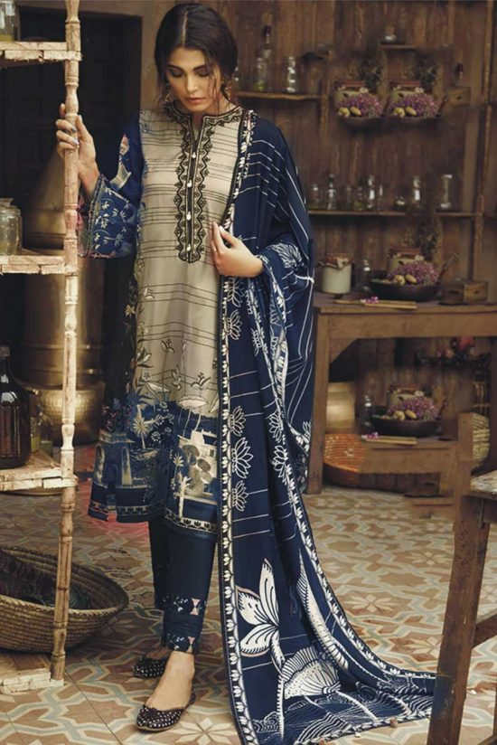 Cross Stitch embroidered dhanak collection 2020