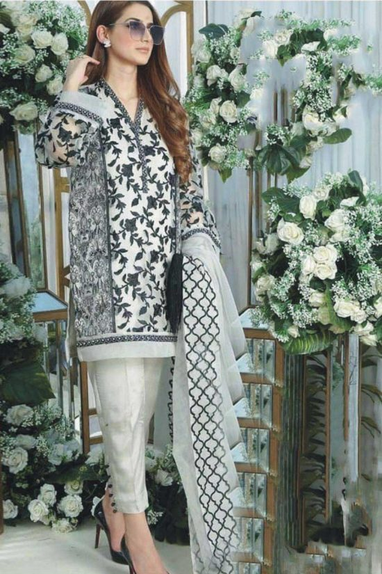 limelight party wear heavy embroidered linen collection 2020
