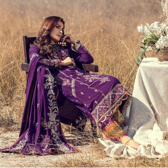 Noor-by-saadia-asad embroidered lawn collection 2021