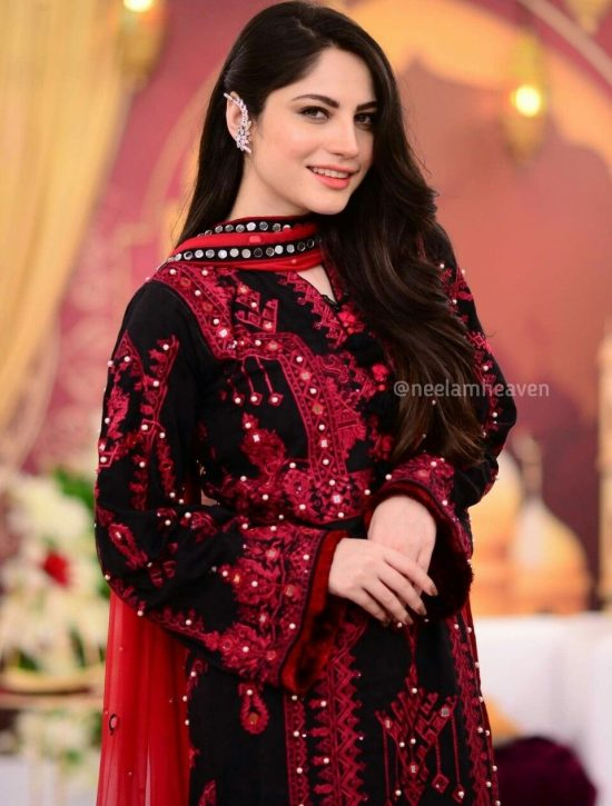 Neelam Munir Lawn Suit With Embroidered Dupatta