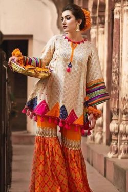 ZAHRA-AHMAD best embroidered lawn suit 2021