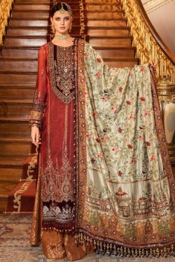 mariab best embroidered lawn suit 2021