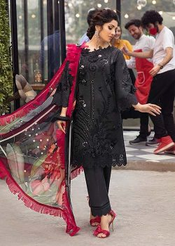 Mushq fully chicken kari embroidered eid lawn collection 2021